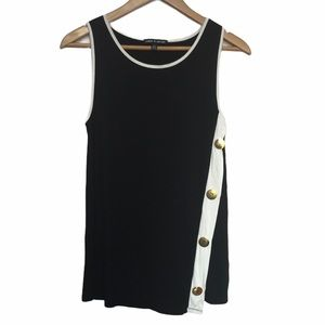 Cable & Gauge scoop neck button side tank S